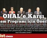 OHAL'e Karşı Eylem Programı için Öneriler