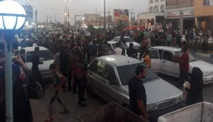 Demonstrators-clash-with-police-on-second-day-in-Khorramshahr-Iran-as-locals-protest-against-water-shortages-and-economic-hardship-750x430